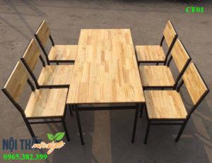 Bàn ghế nhà hàng CF01 giá rẻ cho bạn tiết kiệm chi phí đầu tư mà vẫn cực bền đẹp