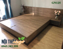GN125 giường gỗ có tap đầu giường